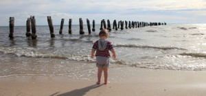 Boy Vs Ocean: Scouting shots with Dad